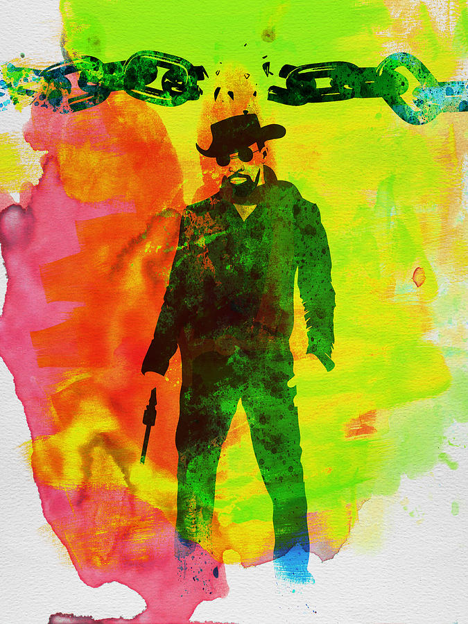 Django Unchained Watercolor Painting