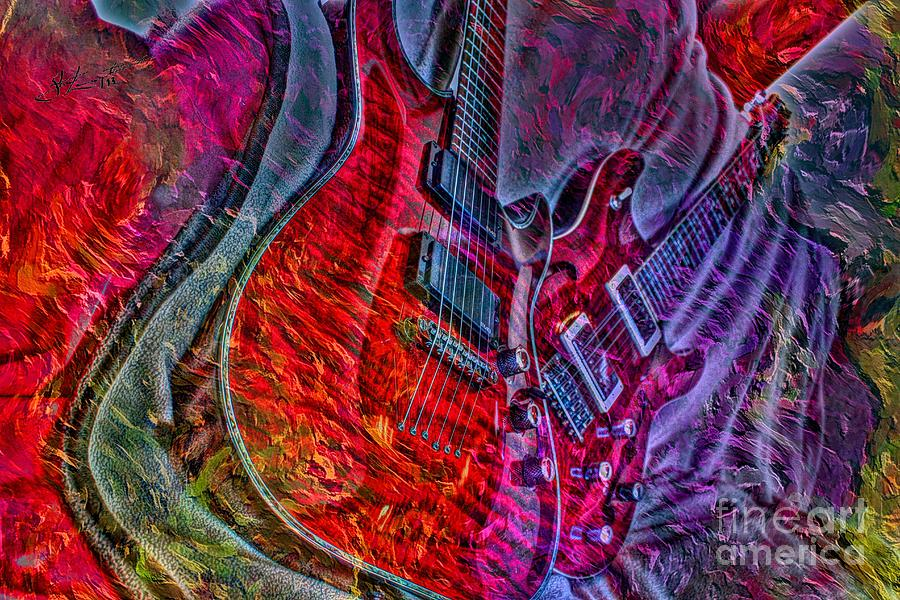 Do Not Let The Music Die Digital Guitar Art By Steven Langston Photograph  - Do Not Let The Music Die Digital Guitar Art By Steven Langston Fine Art Print