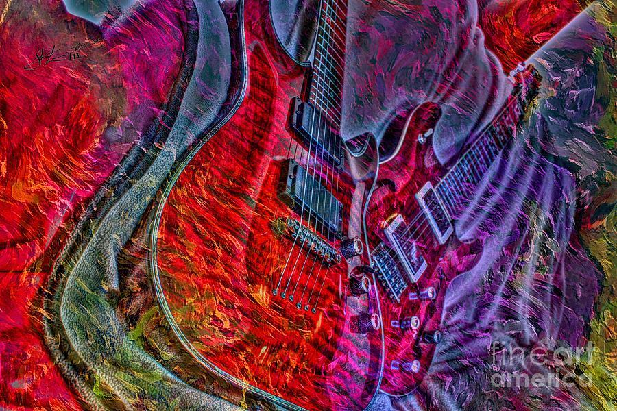 Do Not Let The Music Die Digital Guitar Art By Steven Langston Photograph