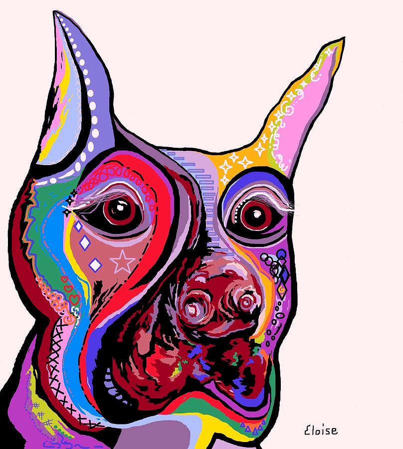 Doberman Painting  - Doberman Fine Art Print