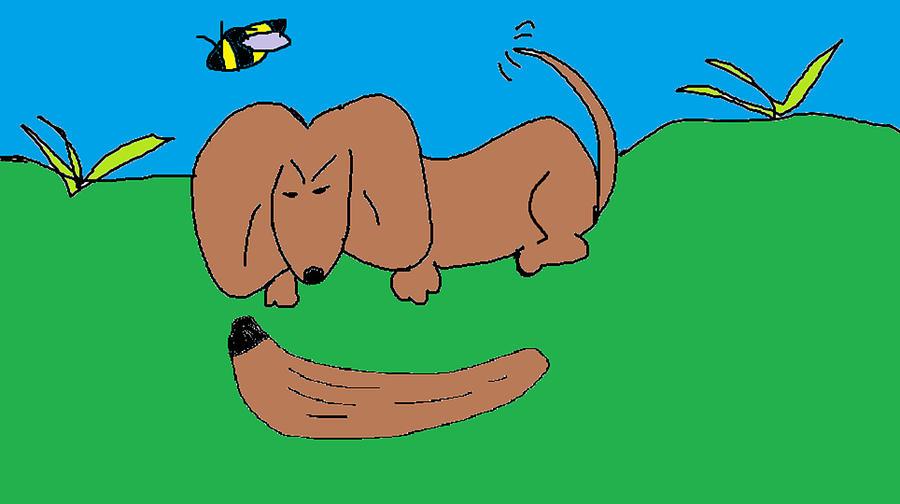 Doc The Dachshund  Digital Art  - Doc The Dachshund  Fine Art Print