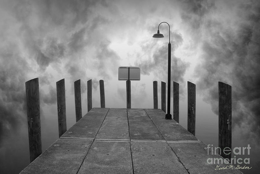 Dock And Clouds Photograph
