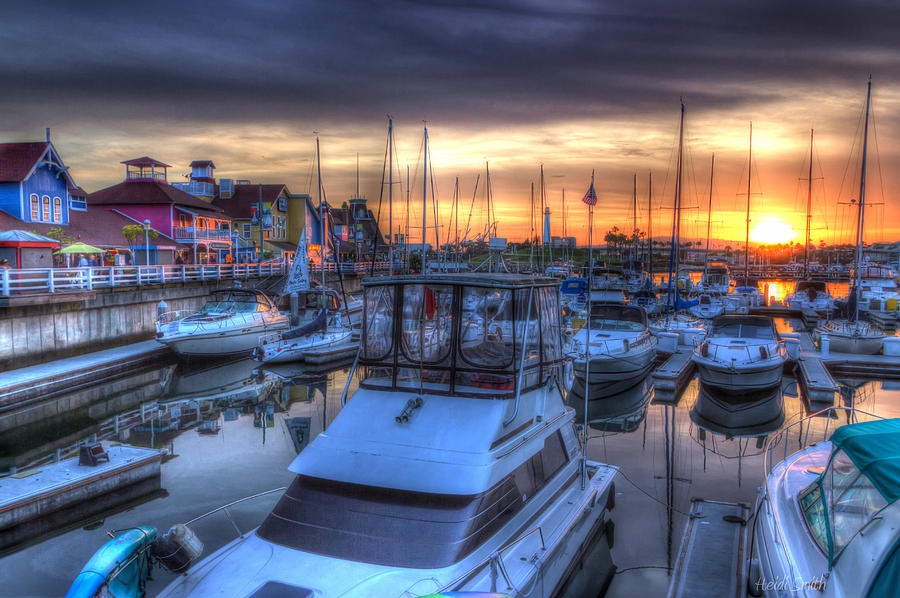 Docked At Sundown Photograph