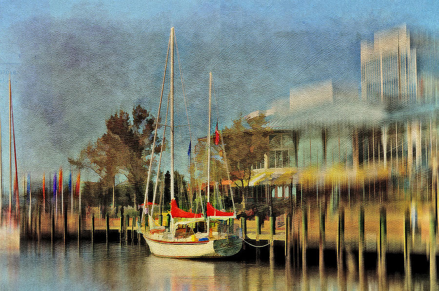 Sailboat Photograph - Docked by Kathy Jennings
