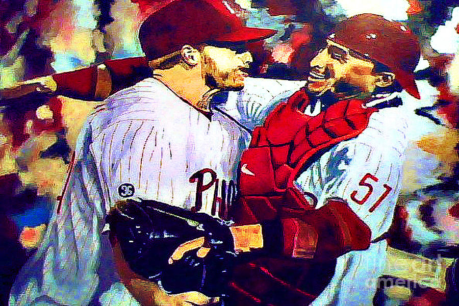 Docs No Hitter Painting  - Docs No Hitter Fine Art Print