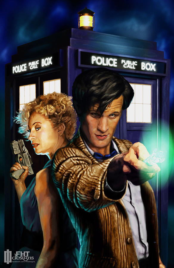 Doctor Who Painting  - Doctor Who Fine Art Print