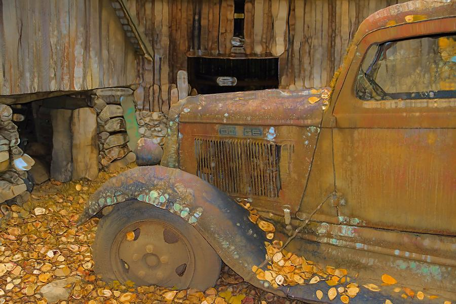 Dodge Truck Autumn Abstract Photograph