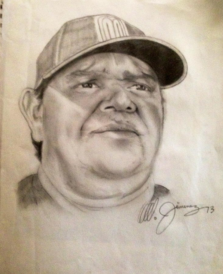 Dodger Legend Valenzuela Drawing