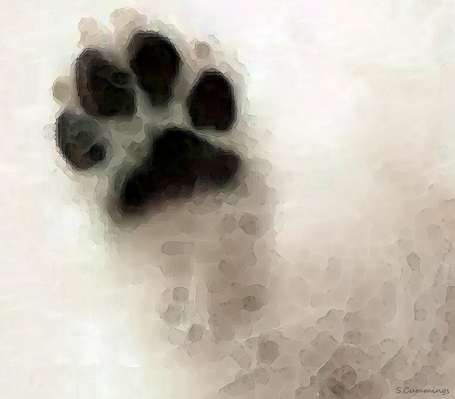 Dog Art - I Paw You Painting  - Dog Art - I Paw You Fine Art Print