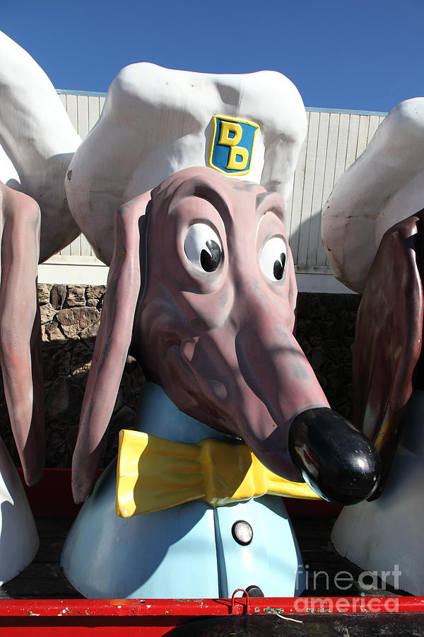 Doggie Diner Dog - Yellow Bow Tie - 5d20935 Photograph