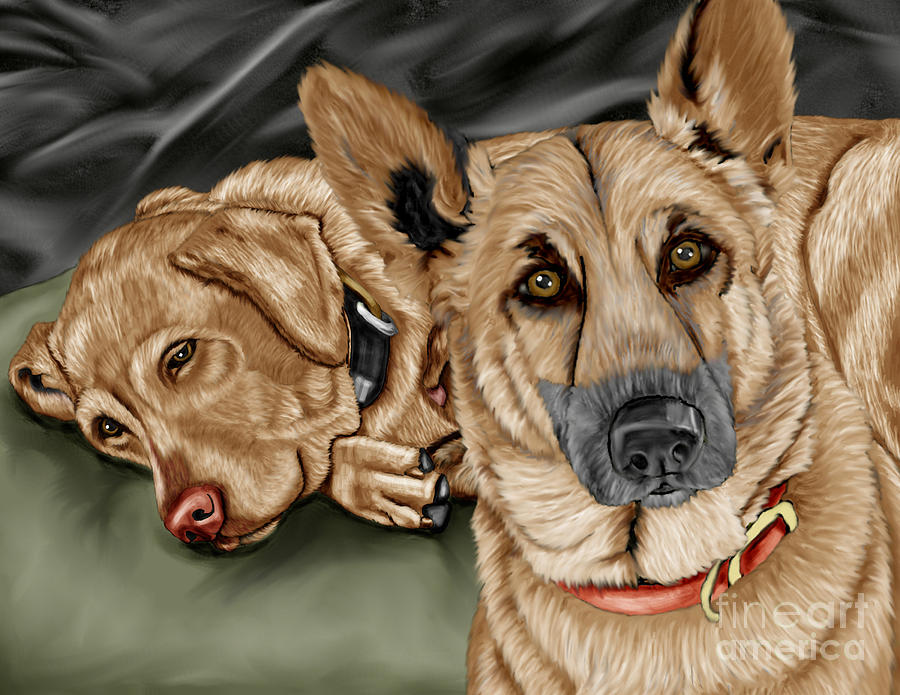 Dogs Painting  - Dogs Fine Art Print