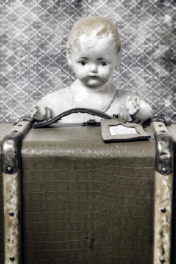 Doll In Suitcase Photograph