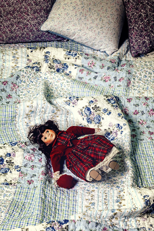 Old Photograph - Doll On Bed by Joana Kruse
