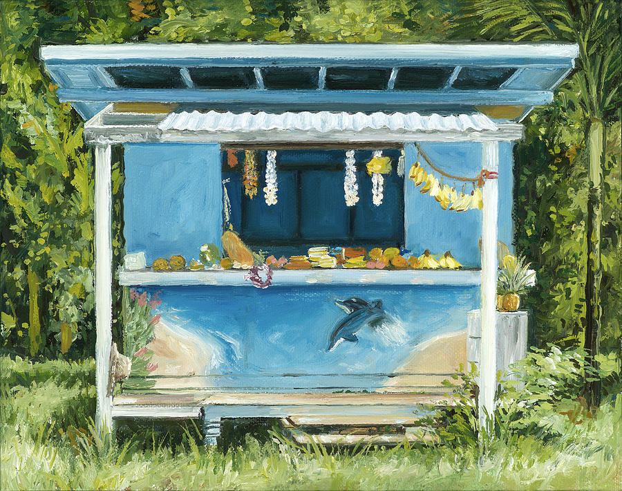 Dolphin Bar Painting  - Dolphin Bar Fine Art Print