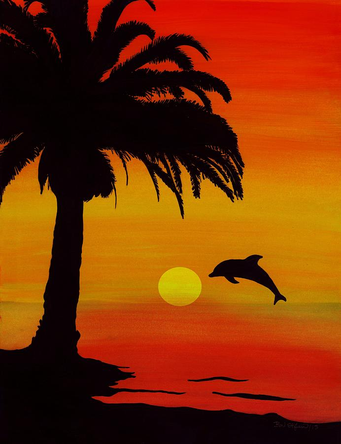 Displaying (20) Gallery Images For Dolphins Jumping In The Sunset With