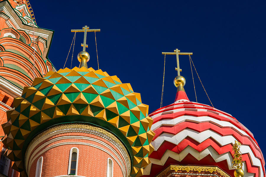 Domes Of Vasily The Blessed Cathedral - Feature 3 Photograph