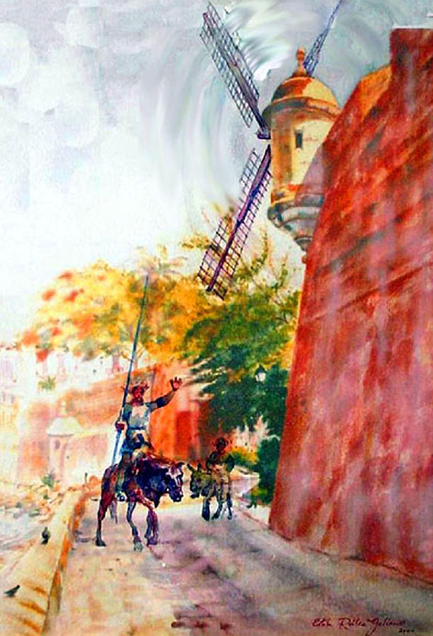 Don Quixote In San Juan Painting
