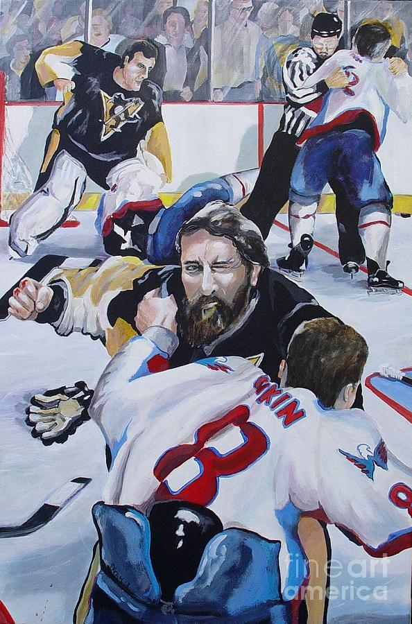 Hockey Painting - Donnybrook by Philip Kram