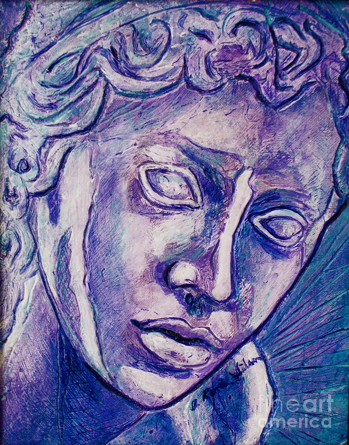 Angel Painting - Dont Blink by D Renee Wilson