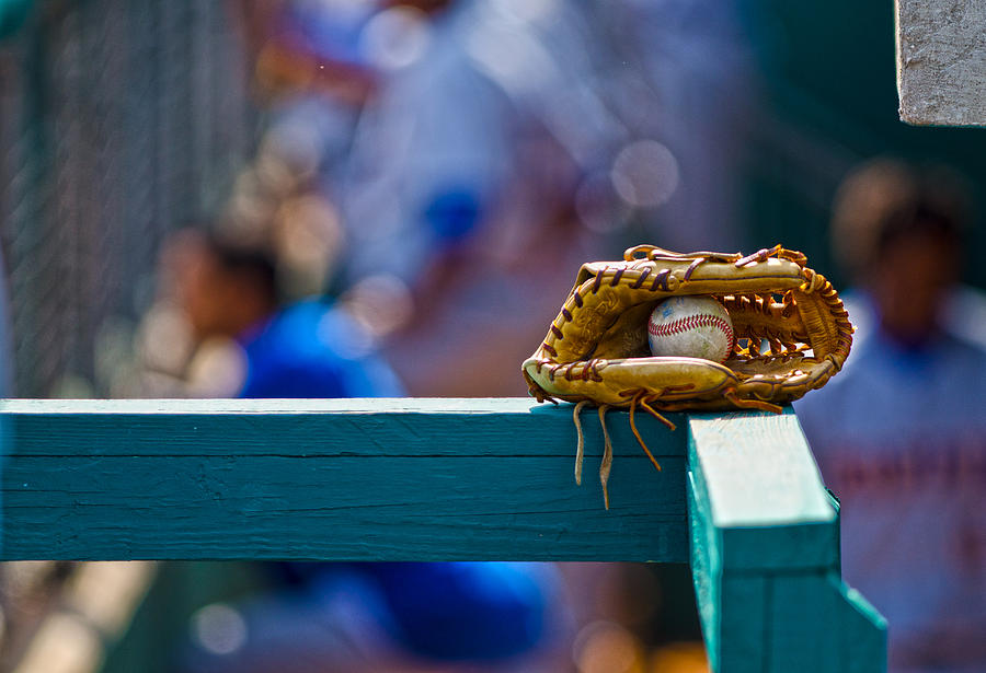Baseball Photograph - Dont Forget Your Glove by Michael Misciagno