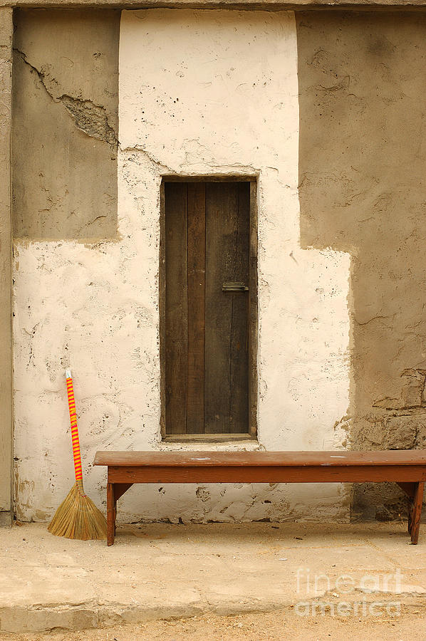 Door And Broomstick Photograph