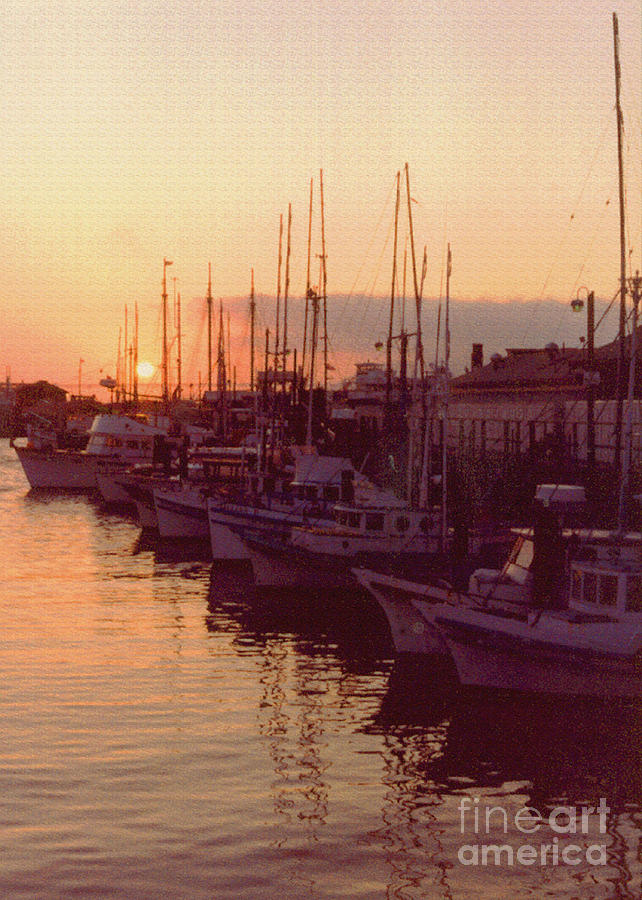 Door County Wisconsin Egg Harbor Sunset 1981 Photograph  - Door County Wisconsin Egg Harbor Sunset 1981 Fine Art Print