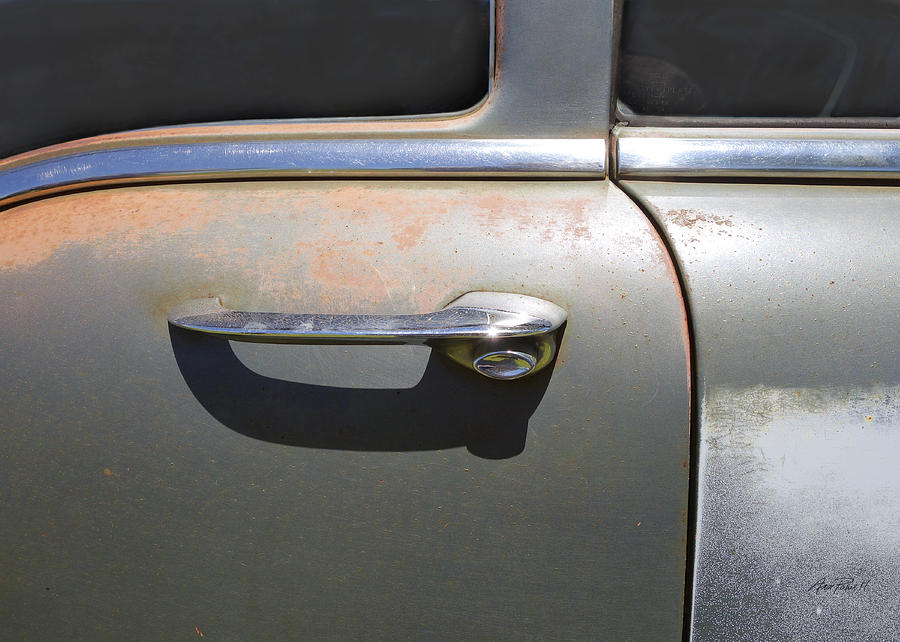 Door Handle Classic Car Photograph by Ann