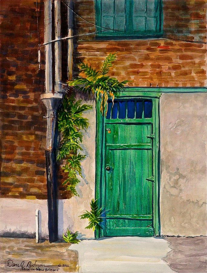 Door In New Orleans Painting