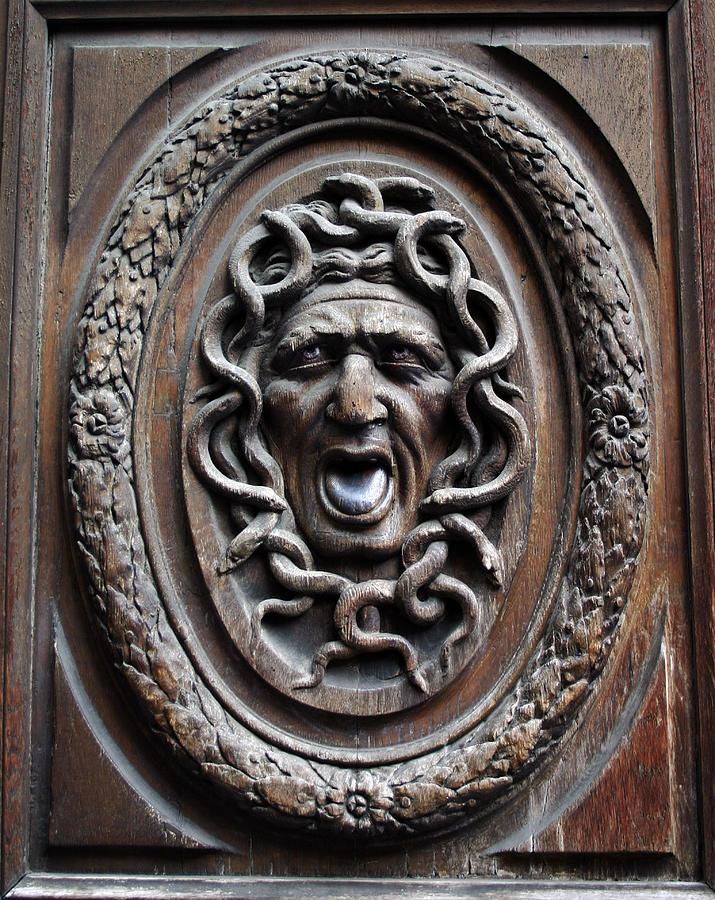 Paris Photograph - Door In Paris Medusa by A Morddel