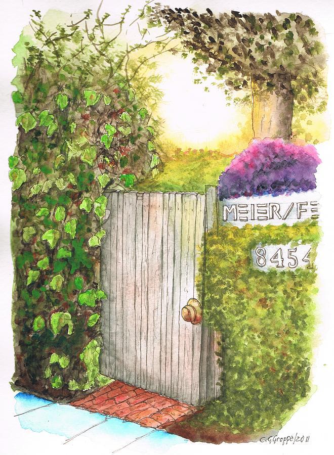 Door Meir Studio Melrose Place - Los Angeles - California Painting