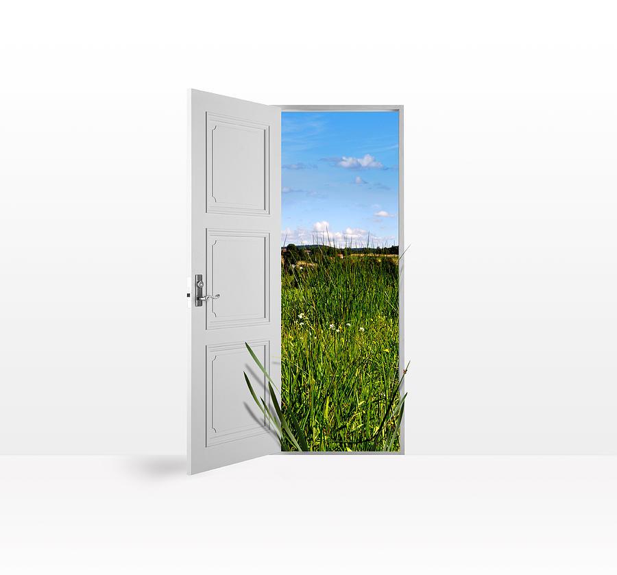 Door Photograph - Door To Nature by Aged Pixel