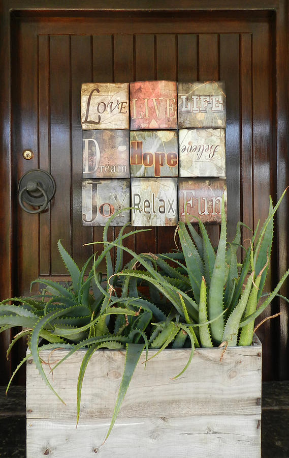 Door With A Message Photograph