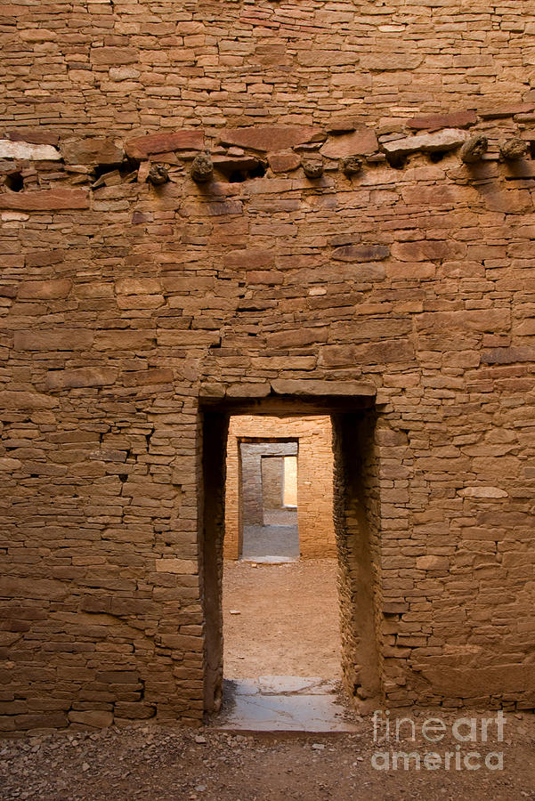 Doorways In Pueblo Bonito Photograph