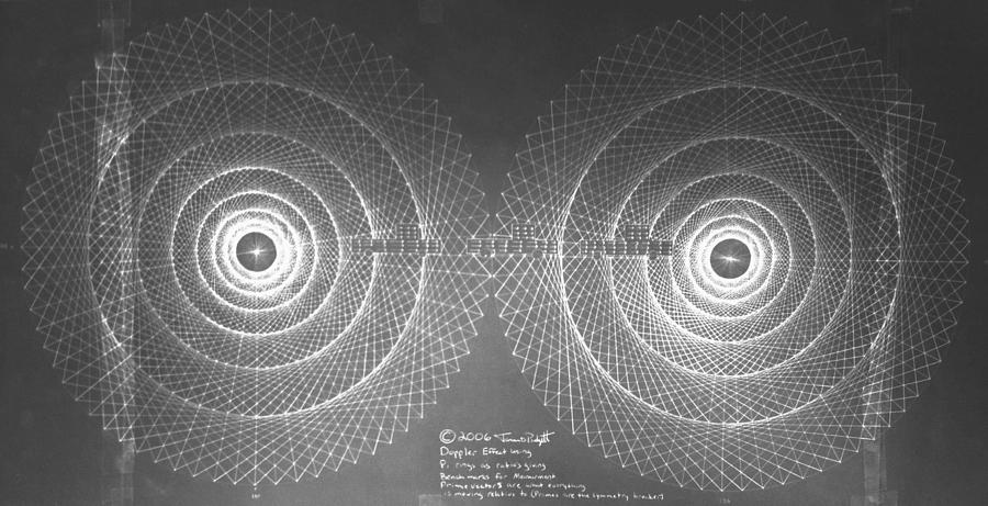Doppler Drawing - Doppler Effect Parallel Universes by Jason Padgett