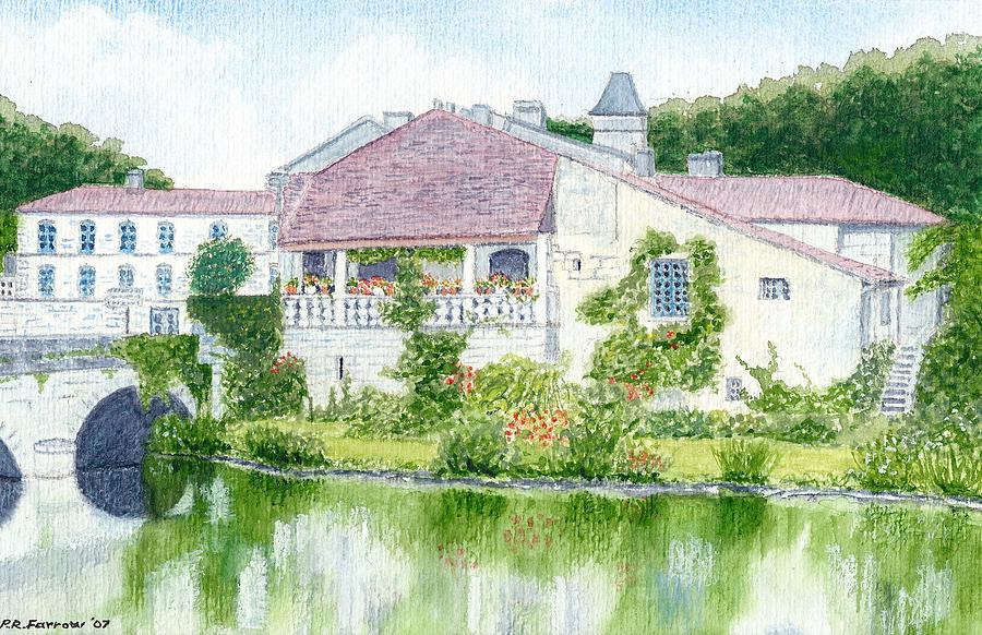 Dordogne - Brantome By The River Dronne  Painting