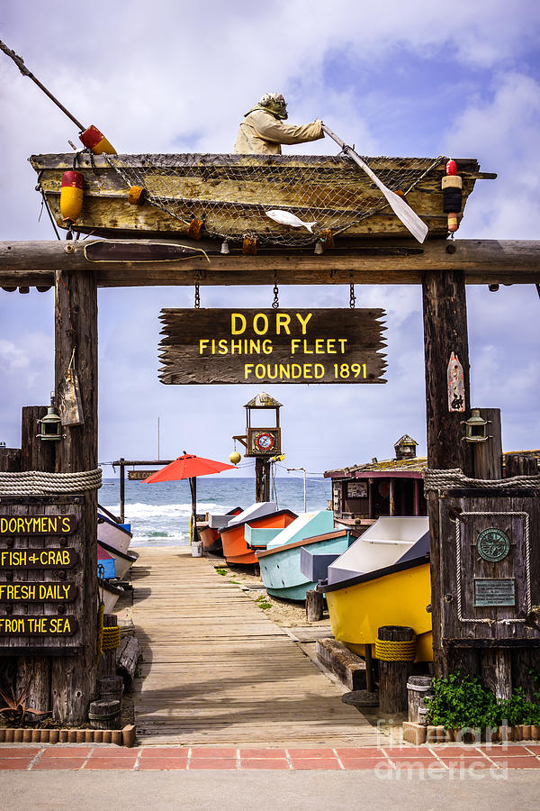 Dory Fishing Fleet Market Newport Beach California Photograph  - Dory Fishing Fleet Market Newport Beach California Fine Art Print