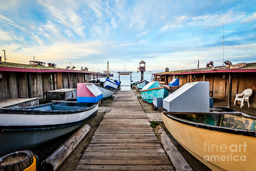 Dory Fishing Fleet Newport Beach California Photograph  - Dory Fishing Fleet Newport Beach California Fine Art Print