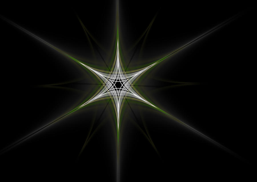 Double Green Star Digital Art