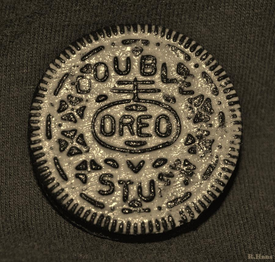 Double Stuff Oreo In Sepia Negitive Photograph