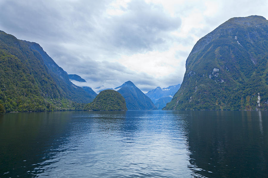 Mountain Photograph - Doubtful Sound Reflections by Alexey Stiop