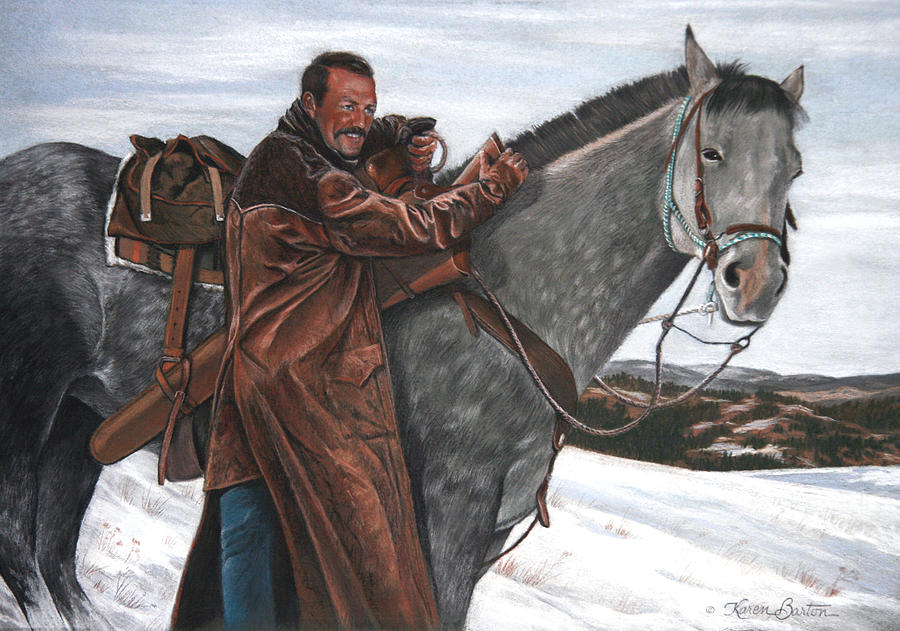 Western Pastel - Doug Barton by Artist Karen Barton