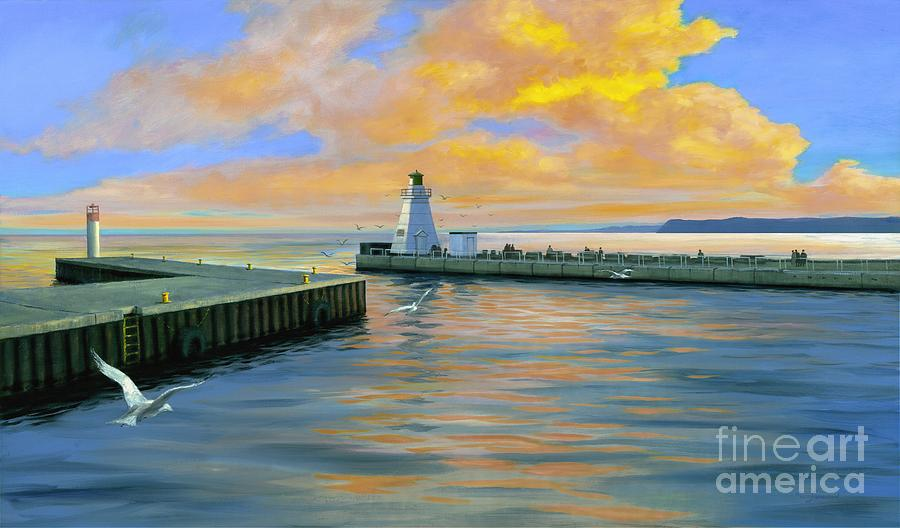 Port Dover Evening Painting - Dover Evening by Michael Swanson