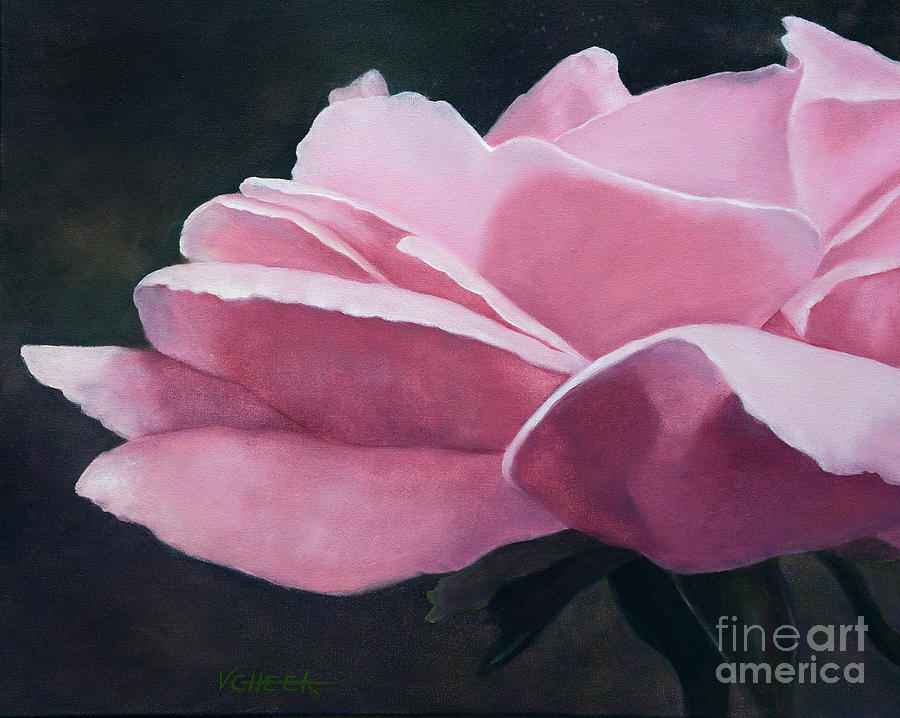 Rose Painting - Dow Garden Rose by Vickie Sue Cheek