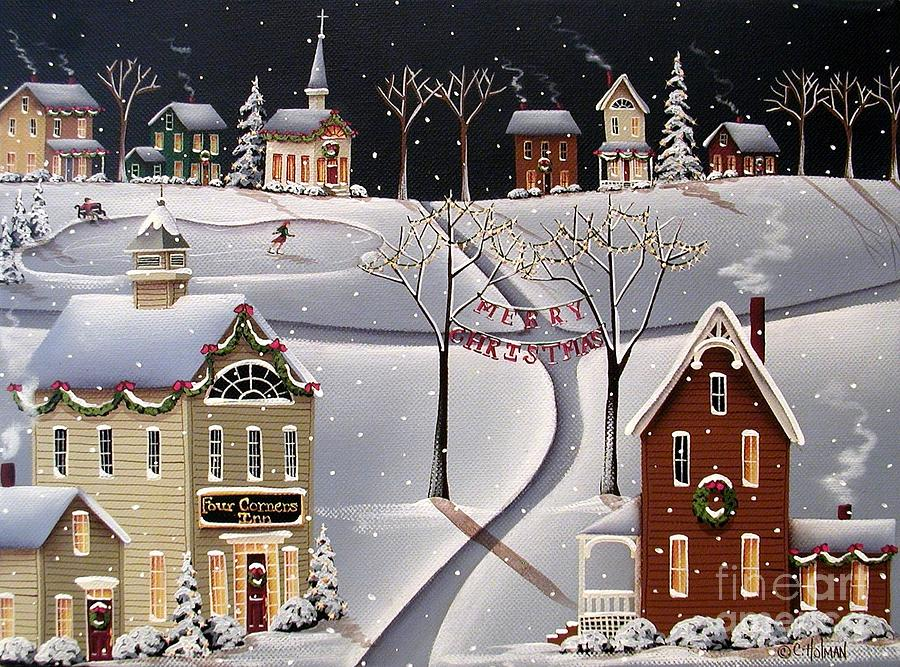 Down Home Christmas Painting  - Down Home Christmas Fine Art Print