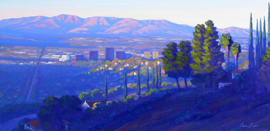Landscape Painting - Down In The Valley by Elena Roche