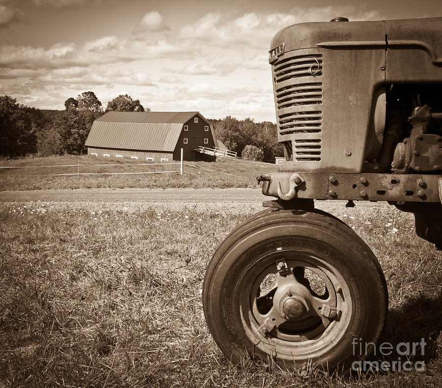 Tracter Photograph - Down On The Farm by Edward Fielding