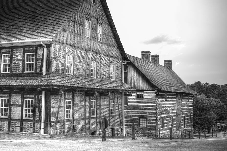 Down The Street In Old Salem Photograph  - Down The Street In Old Salem Fine Art Print