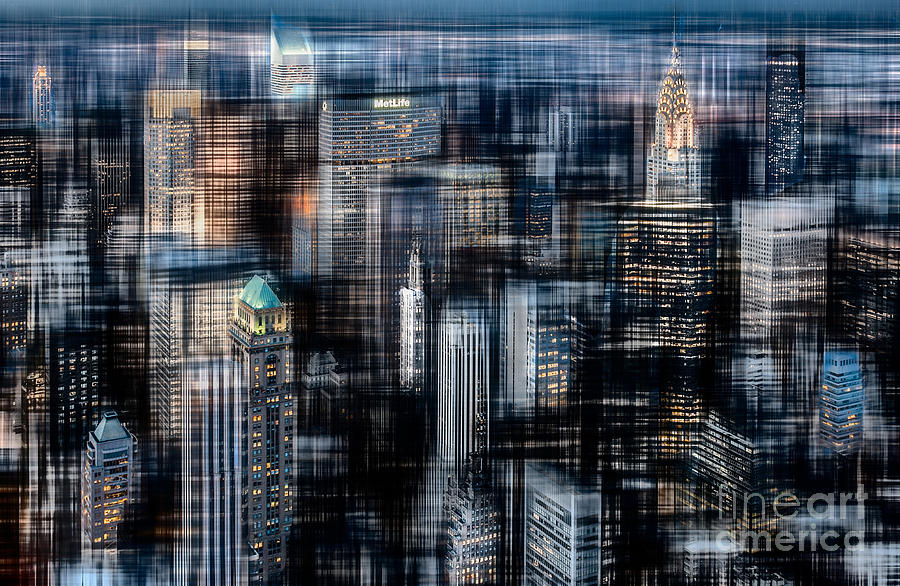 Nyc Photograph - Downtown At Night by Hannes Cmarits