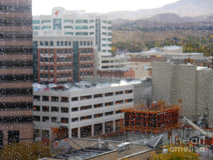 Downtown Boise In The Rain Photograph