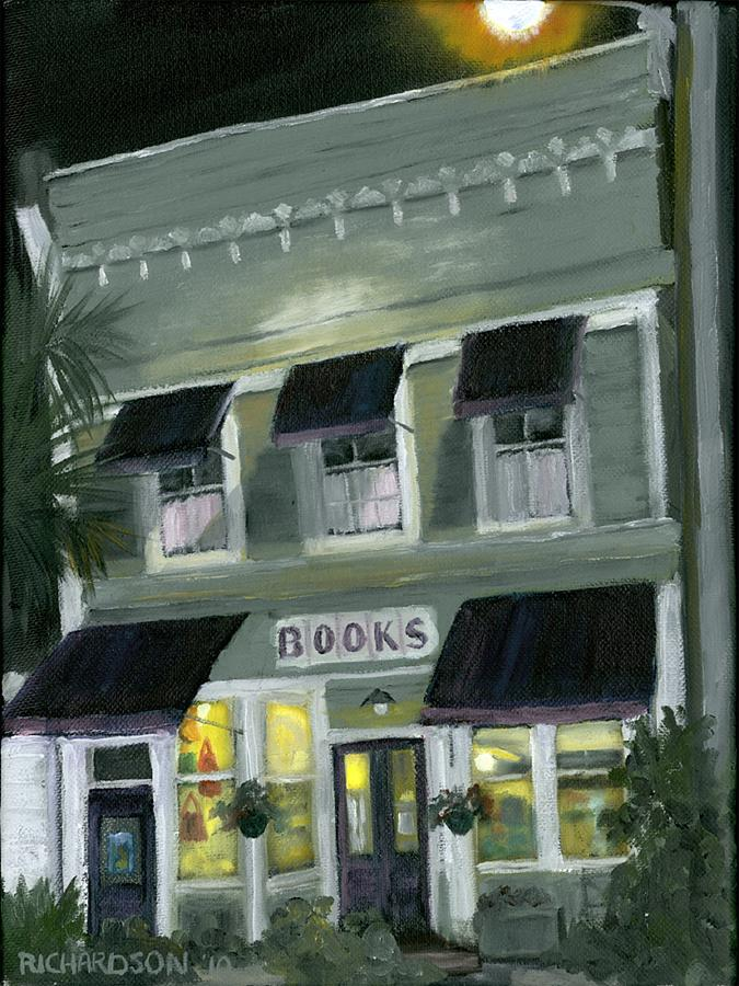 Apalachicola Painting - Downtown Books 11 by Susan Richardson